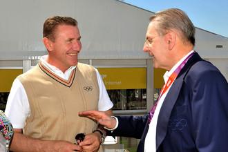 Сергей Бубка (слева) может стать следующим президентом МОК вслед за Жаком Рогге (справа)