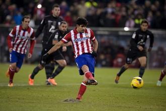 Диего Коста точным ударом с пенальти приносит «Атлетико» победу над «Леванте»