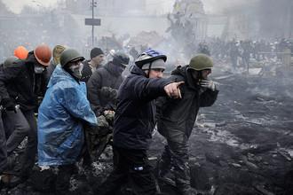 Жестокие столкновения в Киеве