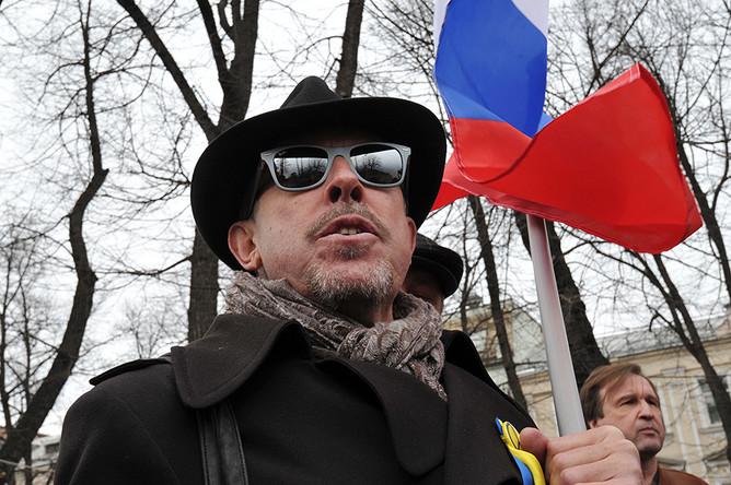 Участник антивоенного «Марша мира» певец и музыкант Андрей Макаревич