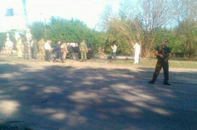 На месте покушения на главу Луганской народной республики Игоря Плотницкого