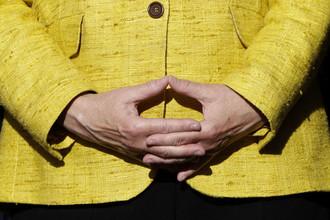 Руки канцлера Германии Ангелы Меркель
