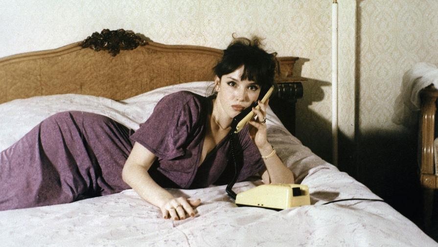 Анна Самохина на съемках фильма «Воры в законе», 1988 год