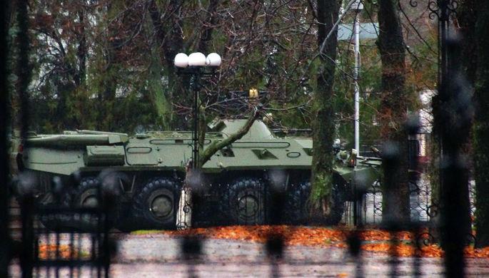 БТР в центре Луганска, 21 ноября 2017 года