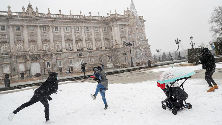 Снегопад в Мадриде, 8 января 2021 года