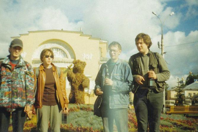 Анастасия Белокурова, Борис Усов и Михаил Хабаров в Ярославле, 2005 год