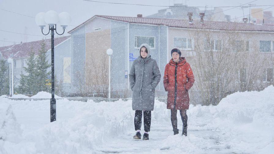 Снегопад в Салехарде, 24 мая 2019 года