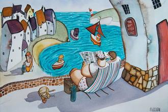 Картина Майка Джексона «Городок у моря»