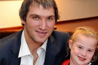 Александр Овечкин с девочкой Энн