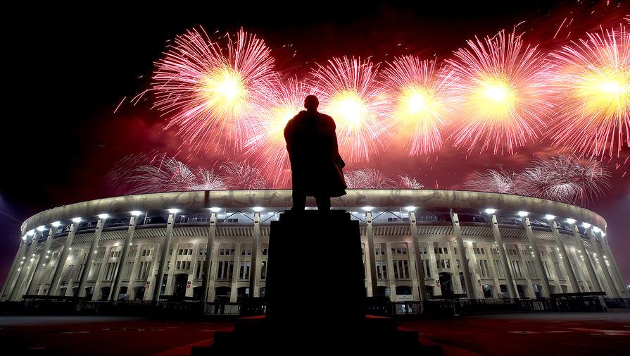 Праздничный салют в честь 76-й годовщины Победы в Великой Отечественной войне в Москве, 9 мая 2021 года