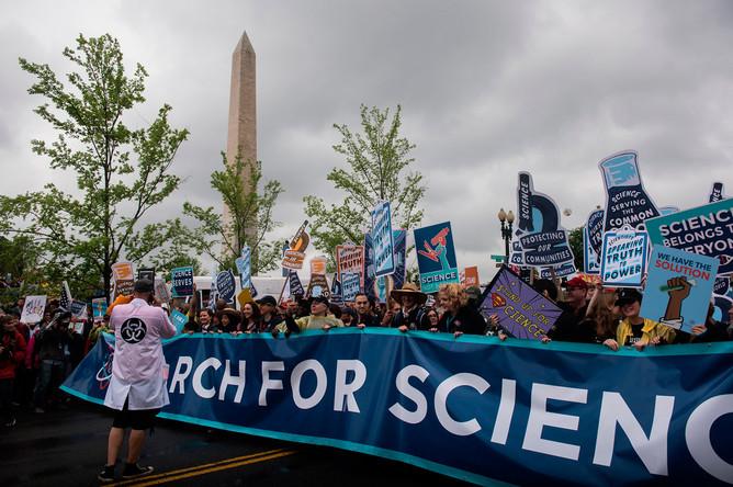 «Научный марш» в Вашингтоне, 22 апреля 2017 года