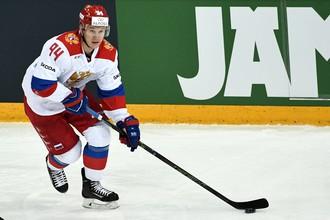 Игрок сборной России Александр Барабанов