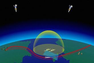 Кадр из видео о запуске ракеты «Авангард», предоставленного Минобороны России