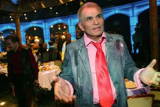 Продюсер группы «На-на» Бари Алибасов во время презентации фильма «Миша или Новые приключения Юлии» в Москве, 2007 год