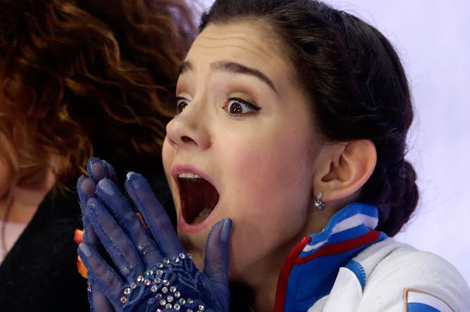 Евгения Медведева стала победительницей чемпионата Европы по фигурному катанию в Братиславе