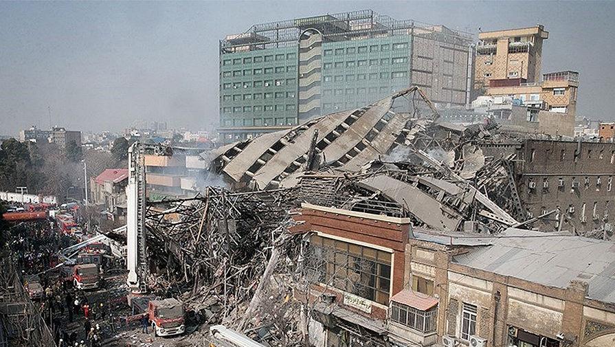 Тегеран в огне: в центре Иранской столицы обрушился небоскреб «Plasco»
