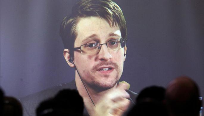 Экс-сотрудник АНБ Эдвард Сноуден во время прямой линии, 17 сентября 2019 года