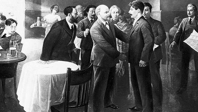 Встреча В.И. Ленина с И.В. Сталиным в Таммерфорсе (1905 г.)