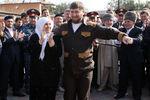 Рамзан Кадыров вселе Центарой после голосования навыборах ворганы местного самоуправления Чеченской Республики, 2009год