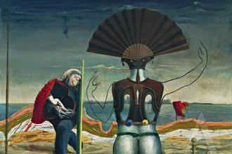 Макс Эрнст. Женщина, старик и цветок, 1924