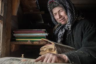 Отшельница из семьи староверов Агафья Лыкова, февраль 2018 года