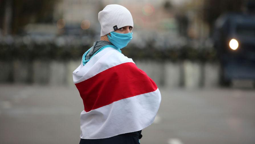 Участник марша оппозиции в Минске, 25 октября 2020 года