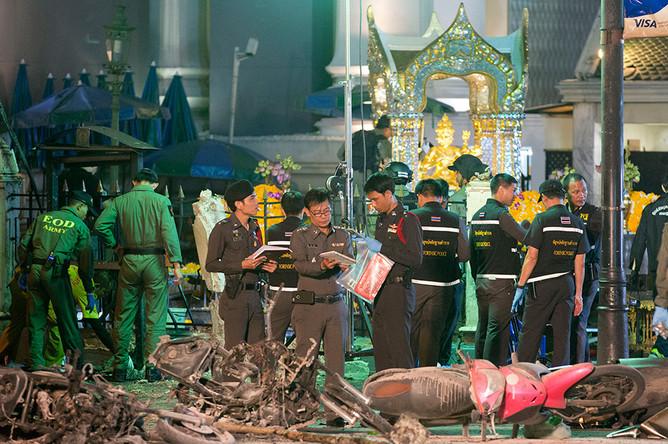 Последствия взрыва в центре Бангкока