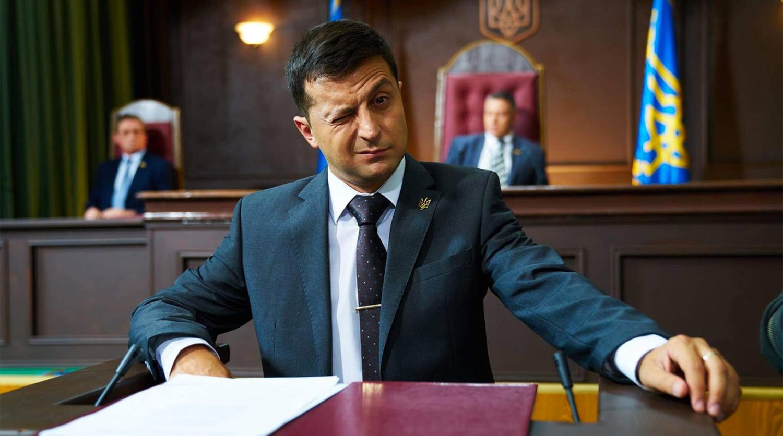 Владимир Зеленский в кадре из сериала «Слуга народа»