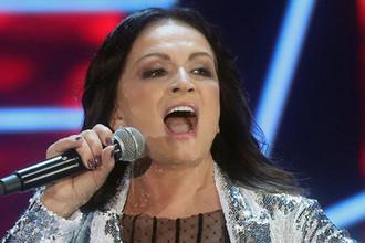Певица София Ротару во время концерта «Песня года» в Москве, 2017 год