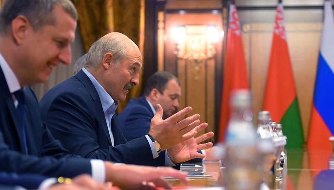 Президент Белоруссии Александр Лукашенко во время встречи с президентом России Владимиром Путиным в Сочи, 7 февраля 2020 года