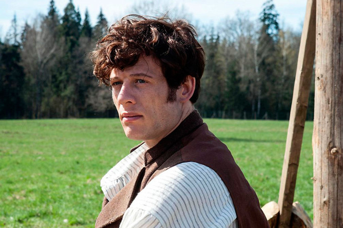 Джеймс Нортон в роли Андрея Болконского в сериале BBC1 «Война и мир»