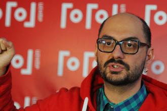 Художественный руководитель театра «Гоголь-центр» Кирилл Серебренников после прогона спектакля «00:00» на сцене театра, 2 февраля 2013 год