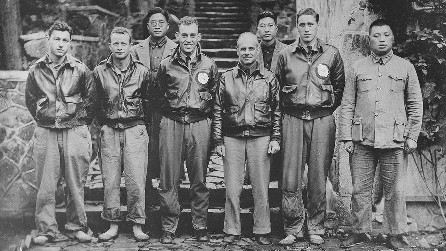 Американские летчики в Китае, апрель 1942 года