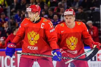 Павел Дацюк и Кирилл Капризов на чемпионате мира по хоккею — 2018