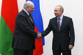 Президент России Владимир Путин и президент Белоруссии Александр Лукашенко во время встречи, 13 февраля 2019 год