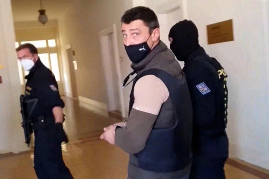 Александр Франчетти во время задержания вЧехии