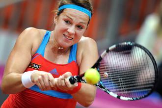 Анастасия Павлюченкова уступила в первом матче полуфинала Кубка Федерации