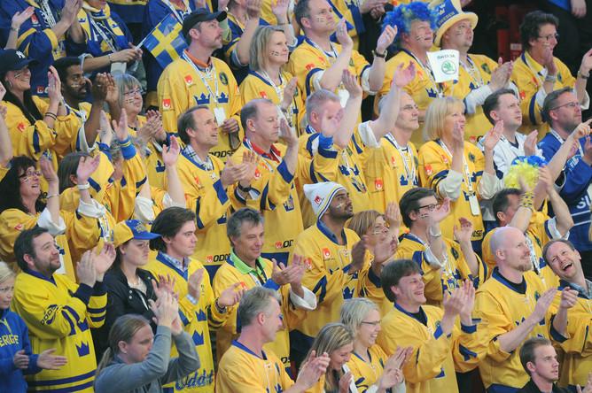Поклонники шведской национальной команды