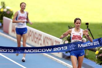 Финиш Елены Лашмановой.
