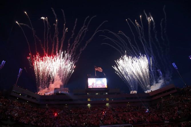 Салют на церемонии открытия US Open — 2014