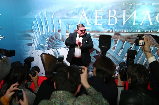 Актер Роман Мадянов на премьере фильма «Левиафан» в кинотеатре «Москва»