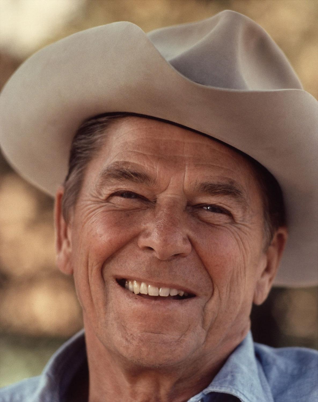 Рональд Рейган на ранчо в 1976 году