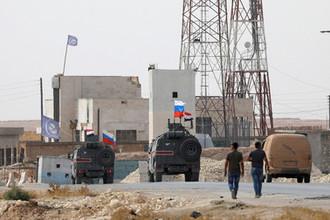 Российская военная техника в сирийском Манбидже, 15 октября 2019 года