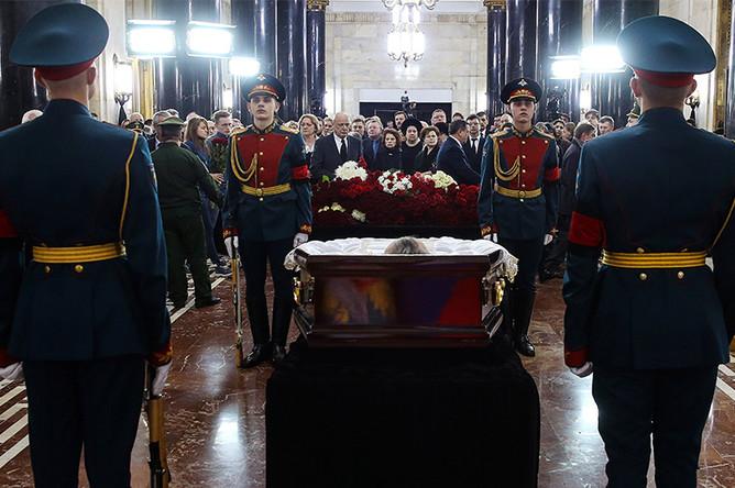 Церемония прощания с послом России в Турции Андреем Карловым в здании МИД России на Смоленской площади в Москве, 22 декабря 2016 года