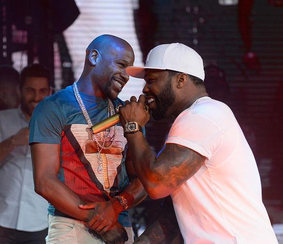 Мейвезер со своим другом рэпером 50 Cent