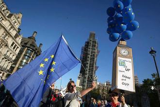 Участники митинга против Брекзита, Лондон, 20 октября 2018 года