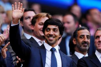 Шейх Мансур на трибунах «Эттихад Стэдиума», домашней арены «Манчестер Сити»
