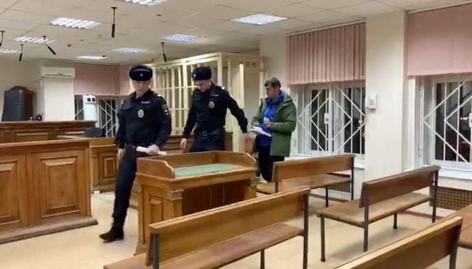 Столичный суд арестовал на два месяца заместителя начальника управления ГУУР МВД РФ Евгения Кузина (кадр из видео)