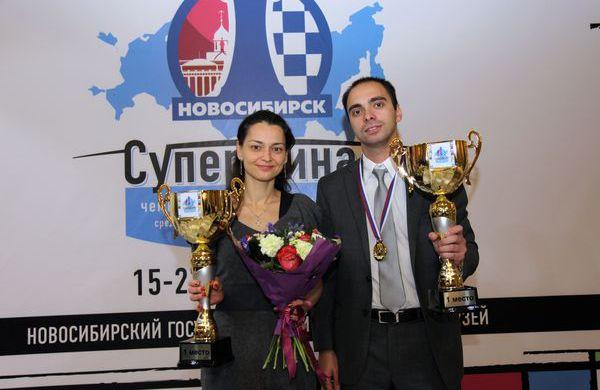 Александра Костенюк и Александр Рязанцев стали чемпионами России по шахматам