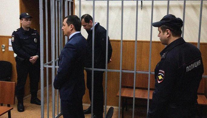Заместитель главы Следственного департамента (СД) МВД РФ генерал Александр Бирюков на заседании Басманного суда города Москвы, 3 апреля 2020 года